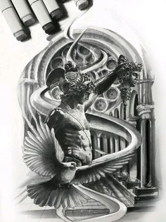 Sketch, tattoo tattoo mythology tattoos, tattoo designs и re God Tattoos, Body Art Tattoos, Tattoos For Guys, Tattoo Sleeve Designs, Tattoo Designs Men, Sleeve Tattoos, Greek Mythology Tattoos, Roman Mythology, Medusa Tattoo Design