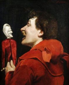 The fool and his double by the French artist José Frappa (1854-1904) - Style:Realism
