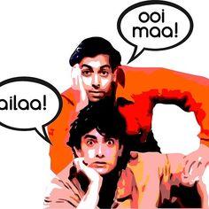 Andaaz Apna Apna' by badmaashhouse Funny Movie Scenes, Funny Movies, Bollywood Memes, Bollywood Posters, Swag Quotes, Mood Quotes, Andaz Apna Apna, Room Posters, Movie Posters