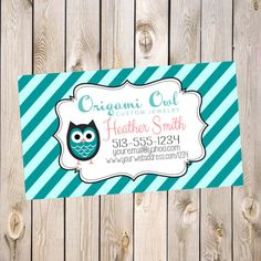 Custom owl business card printable by bibd origami owl business origami owl business cards by marybobbinsboutique on etsy 600 colourmoves