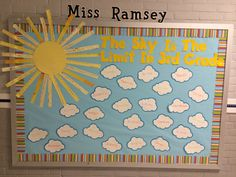 Adorable welcome back to school bulletin board