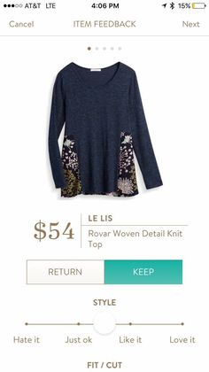 Fix 7 - really like this inset print! I pinned a cold shoulder top of the same fabric