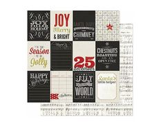 Love this chalkboard tag holiday paper:  Jingle All The Way 12 X 12 Believe Paper by Heidi Swapp