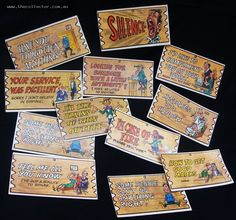 Group of Wacky Plak trading cards