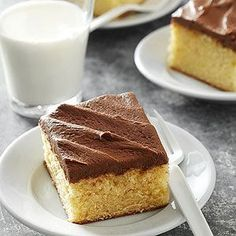 Yellow Cake with Chocolate Butter Frosting From Better Homes and Gardens, ideas and improvement projects for your home and garden plus recipes and entertaining ideas.