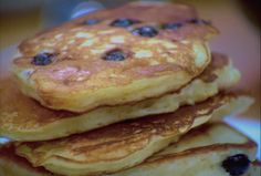 Blueberry Buttermilk Pancakes Recipe : Food Network - FoodNetwork.com