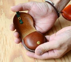 手のひらサイズブッテーロ革小銭入れ コインケース