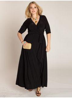 Celebration Wrap Dress in Black