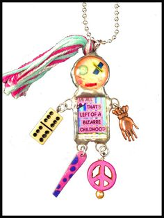 Art Doll Necklace Art Doll Penny Jewelry Ball by WhirligirlDesigns, $25.00