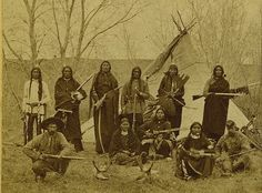 Armed Sioux Scouts in Camp by F. Jay Haynes ca 1880s