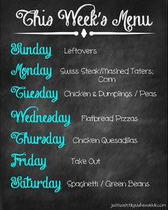 Just wait til you have kids | Our Weekly Meal Plan