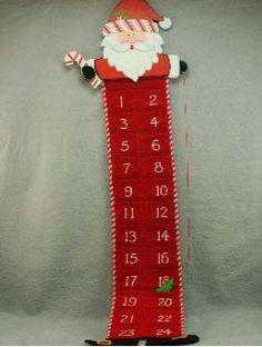 Wood & Fabric Santa Advent Calendar