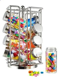 Spice Rack to organize scrapbooking items, like beads, sequins, etc.