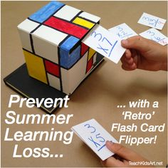 Prevent  Summer  Learning Loss with a 'Retro' Flash Card Flipper!