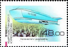 Stamp: Dirigible In Future (Kyrgyzstan) (Development of Dirigibles) Mi:KG 688A,Yt:KG 568,Sg:KG 497,WAD:KG041.11,Un:KG 696A