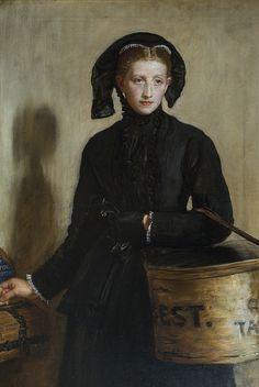 A Widow's Mite: 1870 by John Everett Millais (Birmingham Museum and Art Gallery) - Pre-Raphaelite