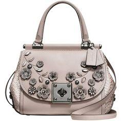 Coach Drifter Leather Top Handle Shoulder Bag, Grey Birch l #womensfashion