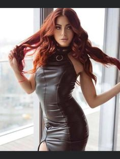 Latex Fashion, All Fashion, Fashion Styles, Sexy Outfits, Cool Outfits, Black Leather Dresses, Leather Outfits, Plus Size Girls, Mid Length Dresses