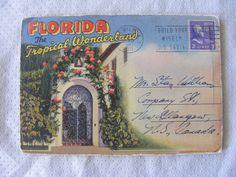Antique Postcard Booklet - Florida