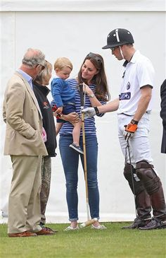 It was a royal day at the polo ground as Prince George joined Duchess Kate and Prince William at a charity match in the country on Sunday, 14 June 2015. The Duke Of Cambridge And Prince Harry played in the Gigaset Charity Polo Match.