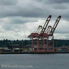 Coming into #Seattle from the water.  #Waterfront #industrial #shipping #cranes #SeattleWaterfront #Ferries #WashingtonStateFerries #PNWlove #UpperLeftUSA #NorthwestIsBest #RoadTrip #NWRoadtrips