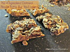Enjoy this easy to make four Ingredient Oatmeal Peanut Butter Bar that is as delicious as it sounds. This recipe can be made low sugar as well.