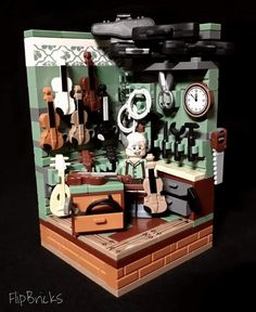 Lego luthier's workshop - fantastic creation ( though i don't think those violins are real lego  )