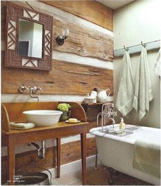 rustic wall ideas | Like the rustic wood on the walls | Decor ideas