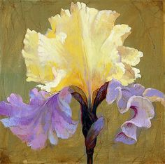 """""""Empress"""" Limited Edition Giclee on Canvas by Simon Bull, Numbered and Signed with Certificate of Authenticity. Bull Images, Bull Painting, Iris Art, Vision Art, Fine Art Auctions, Painting Inspiration, Color Inspiration, Art Gallery, Flower Artwork"""