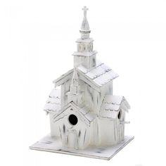 Songbird Valley 14778 Little White Chapel Birdhouse