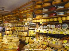 cheese market in Amsterdam. Yum!