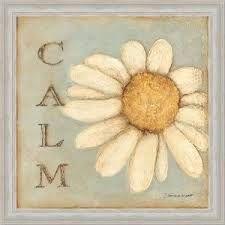 Calm White Daisy Decor Sign