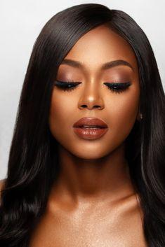 Black Wedding Makeup, Wedding Guest Makeup, Black Girl Makeup, Wedding Makeup Looks, Bridal Hair And Makeup, Girls Makeup, Makeup Black Women, Black Makeup Looks, Black Beauty