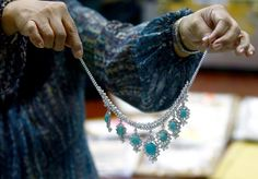 jewellery seized by the Philippine government from former first lady Imelda Marcos, at the Central Bank headquarters in Manila Elegant Woman, Girls Best Friend, Turquoise Necklace, Jewelry Accessories, Fashion Jewelry, Central Bank, Jewels, Manila, Diamond