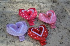 Valentine's Day Heart Ribbon Sculpture Hair by HELLOGOODBYEshop, $6.00