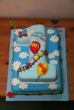 Cartoon Birthday Cake For Baby Boy 1 Year The Cake Boutique