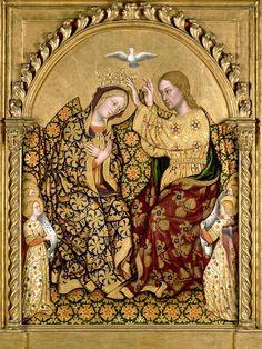 """Gentile da Fabriano """"La Coronación de la Virgen"""". Pintura sobre tabla. Hacia 1422-25. Colección particular. París."""