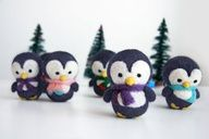 Felted penguins.