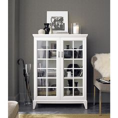 """$349.00  Paterson White 36.5"""" Two-Door Cabinet in Storage Cabinets 