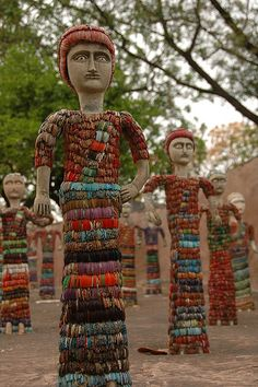 Nek Chand Rock Garden in Chandigard, India. love the colours