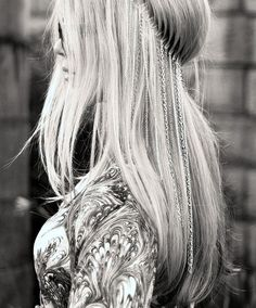 interesting half up hairstyle