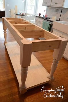 DIY Furniture-Style Kitchen Island :: Hometalk - like it natural.....