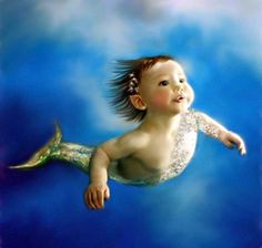 This is not my art, but it reminds me that I have to figure out the mer children of my world :)