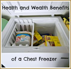 Health and Wealth Benefits of a Chest Freezer