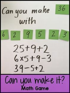 Can You Make It? Math Game - Great math game for making kids think!