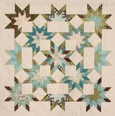 Lone Starburst by K Einmo  Love it, made with a jelly roll etc