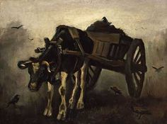 Vincent Van Gogh. 'The Ox Cart'. Oil on canvas. 1884.