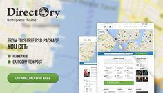 Feel free to use for your own project this files of Directory Package includes layered Homepage and Category Item Post. Web Project, Free Graphics, Wordpress Theme, Website, Image