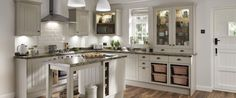 Burford Tongue & Groove Stone - traditional kitchen from Howdens Joinery Stone Kitchen, Big Kitchen, Kitchen Units, Kitchen Cabinets, Kitchen Worktops, Shaker Style Kitchens, Cool Kitchens, Small Kitchens, Galley Kitchens