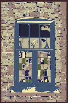 Window at Distillery District, Toronto, Ontario  Photo/art: Mike Schulze ©2015